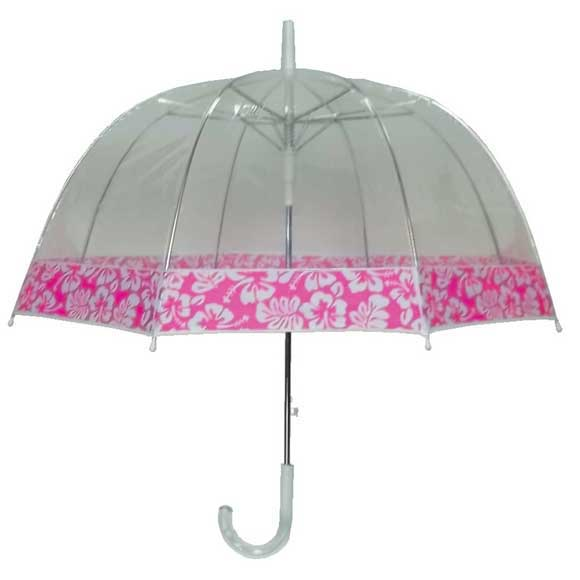5100P - Clear View Dome Umbrella With Edge Prints