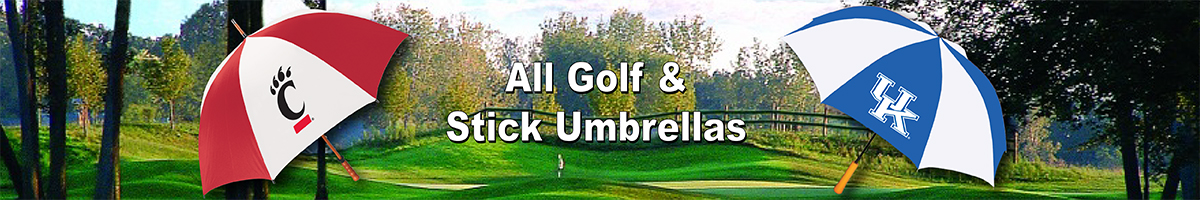 ALL GOLF AND STICK UMBRELLAS